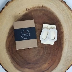 Nickle & Suede Blank Canvas Bloch Leather Earrings